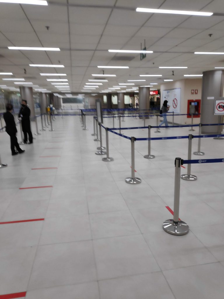 no lines at airport security